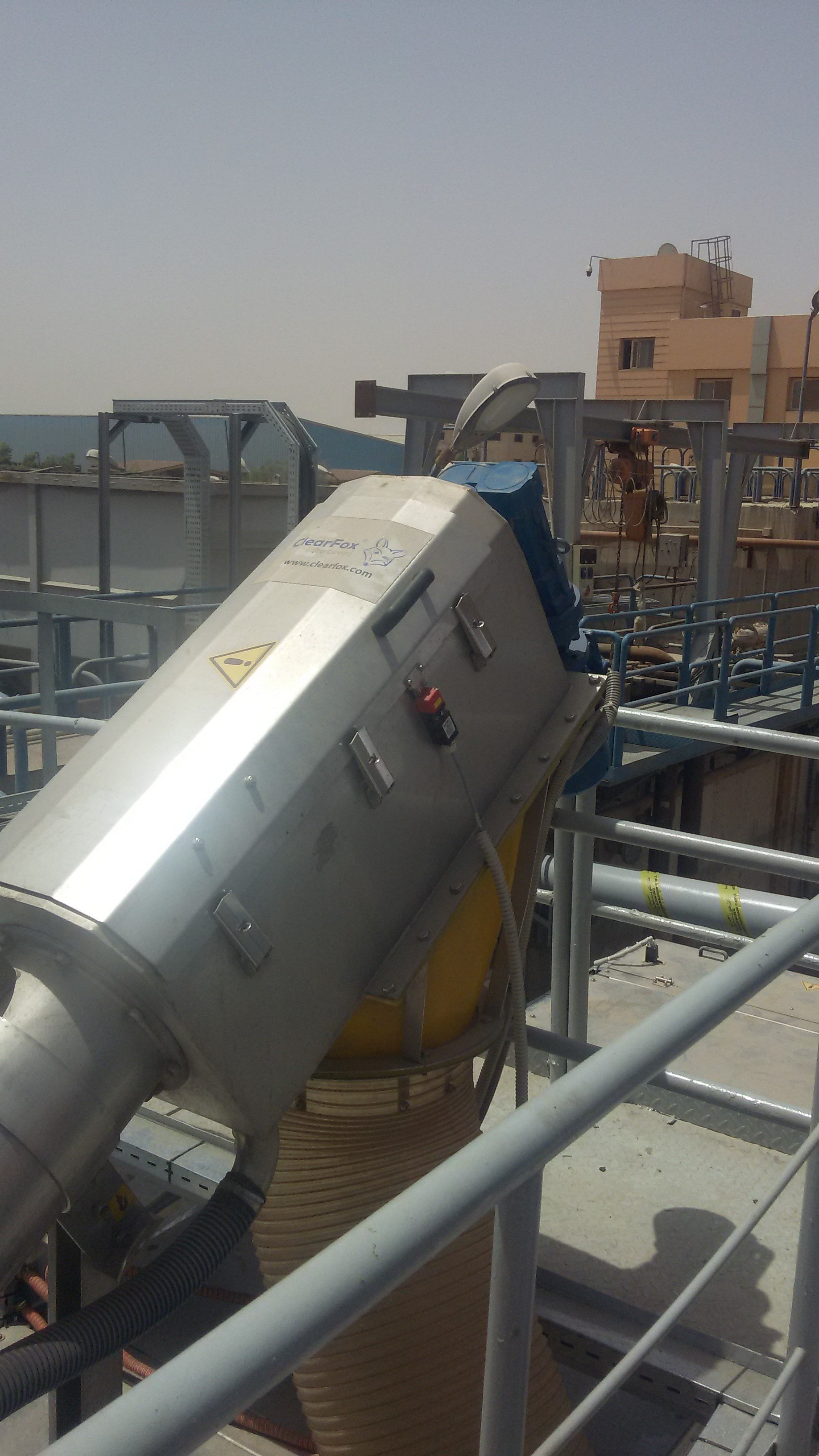 Containerised sewage treatment plant for the foodindustry