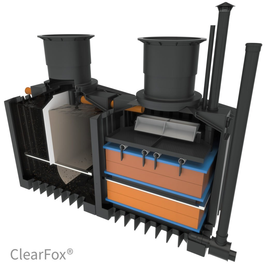 non electric domstic sewage treatment plant ClearFox Nature