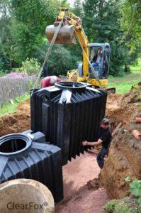 instalation von ClearFox Nature non electric domestic sewage treatment plant