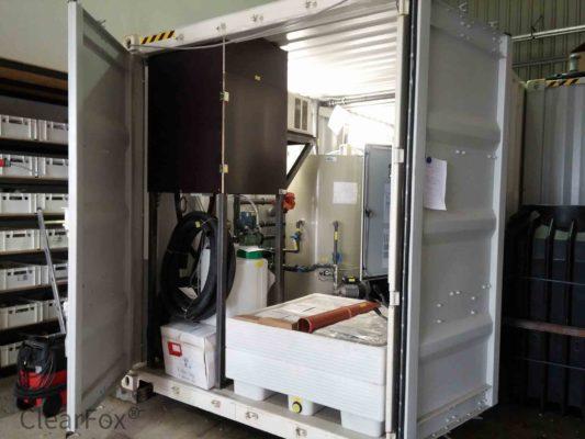 Abwasserreinigung mit container flatation