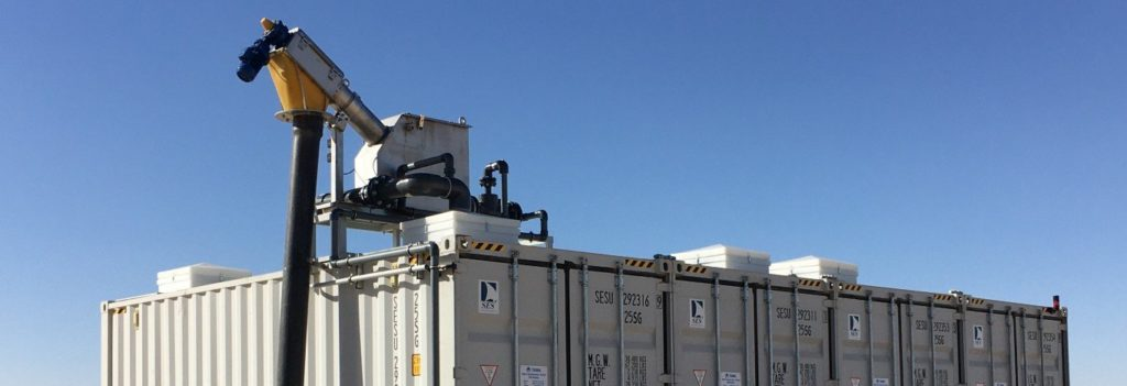 wwt container with Sludge management