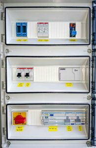 Control cabinet for wastewater treatment