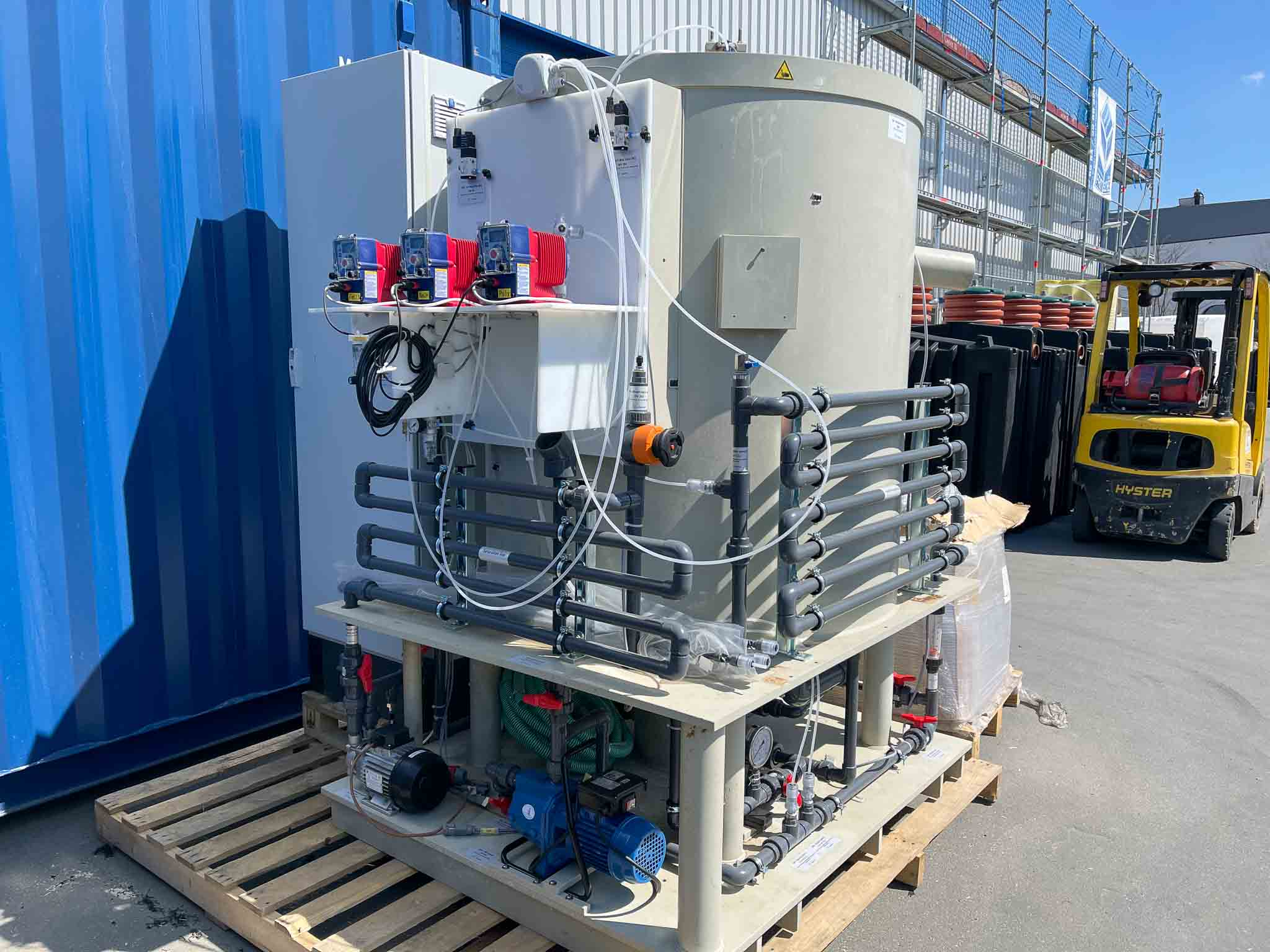 Pilot system for produced water Albania