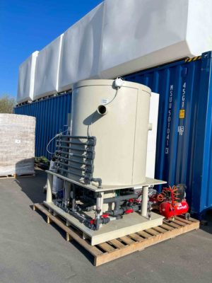 Pilot system produces water treatment Albania