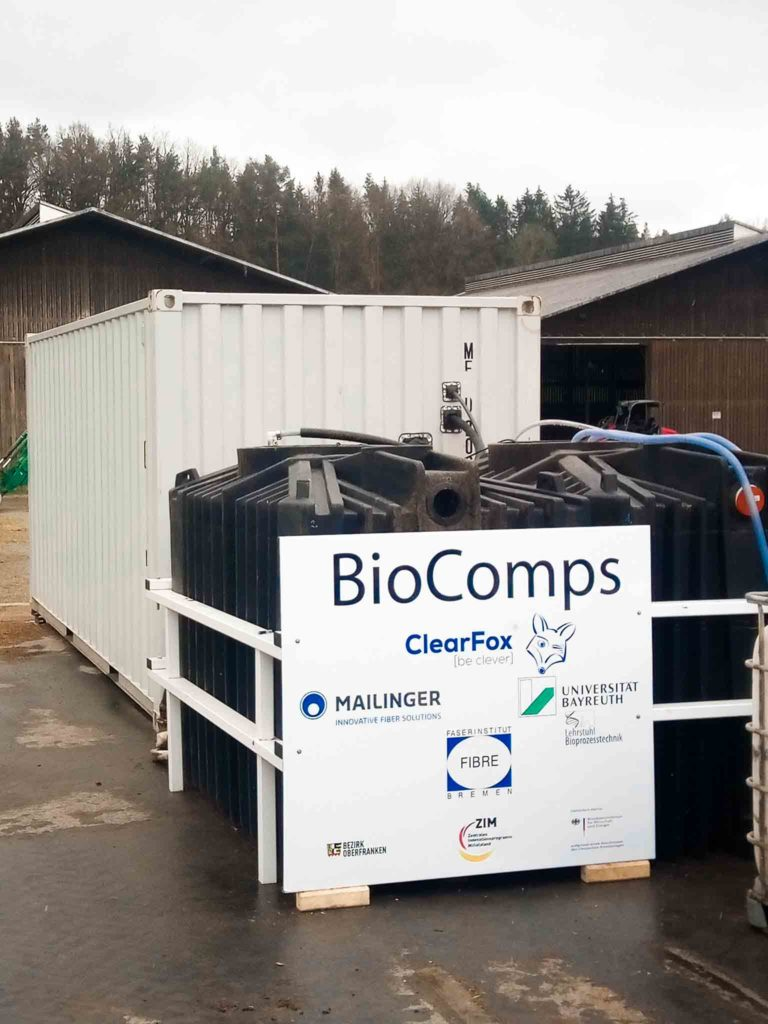 BioComps project for slurry treatment