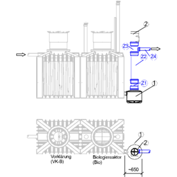 pump shaft biologican no electric sewage treatment