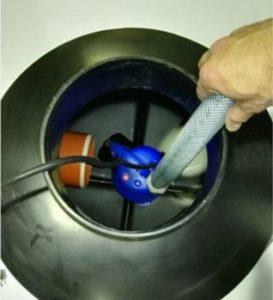 pump shaft septic tank