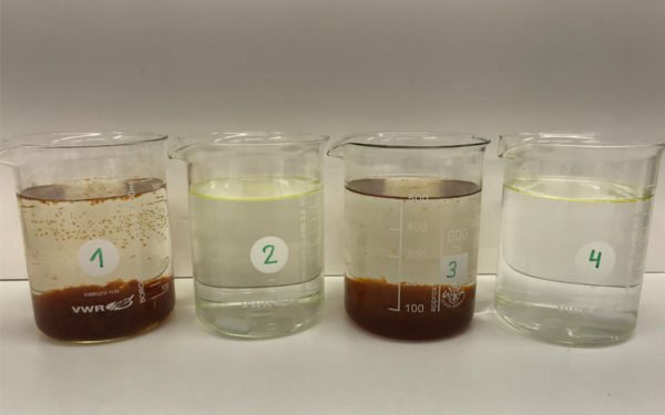 ClearFox® jar test for food flavour industry wastewater